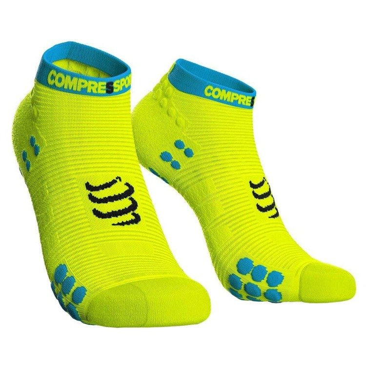 Compressport ProRacing Socks V3 Run Hi - stopki do biegania (żółty)